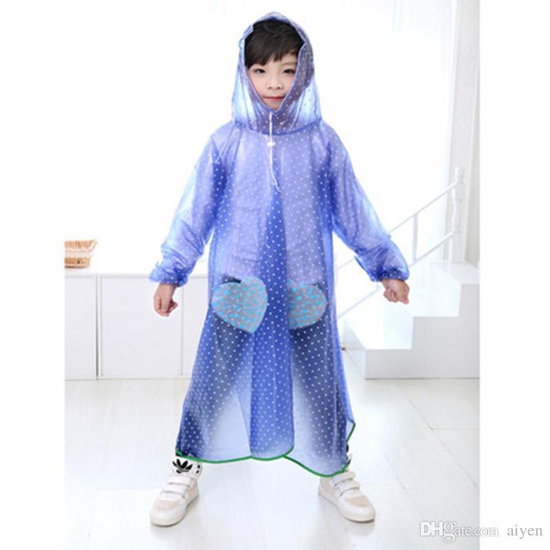 d45817f9c Waterproof Raincoat For Children Baby Girl Impermeables Cape De ...