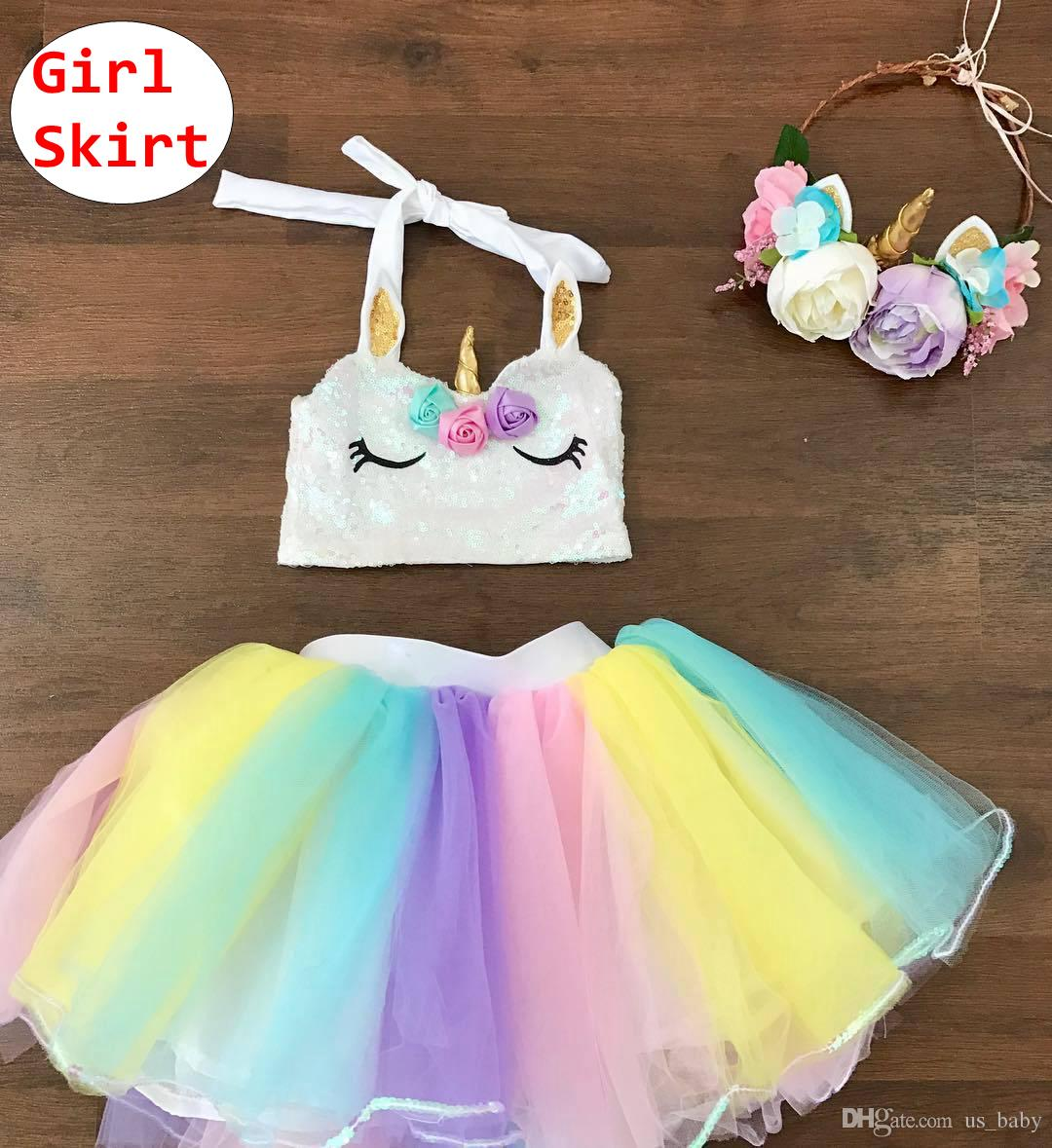 e1ad45d7a1 2019 INS Baby Girl Rainbow Tutu Skirts Kids Girl Ballet Birthday Pettiskirt  Toddler Summer Party Ball Gown For 1 4T From Us_baby, $4.73 | DHgate.Com