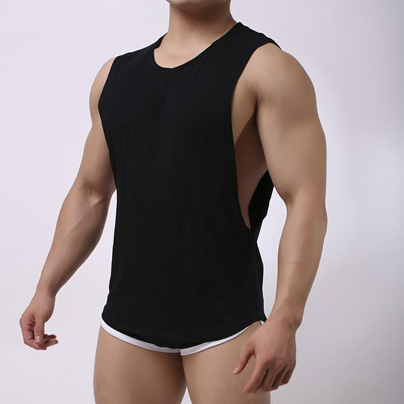 2019 Men Tank Tops And Boxers Cotton Pajama Set Sleepwear Sexy Mens  Underwear Brand Casual Short Sleeve Boxers From Cailey 49274db13