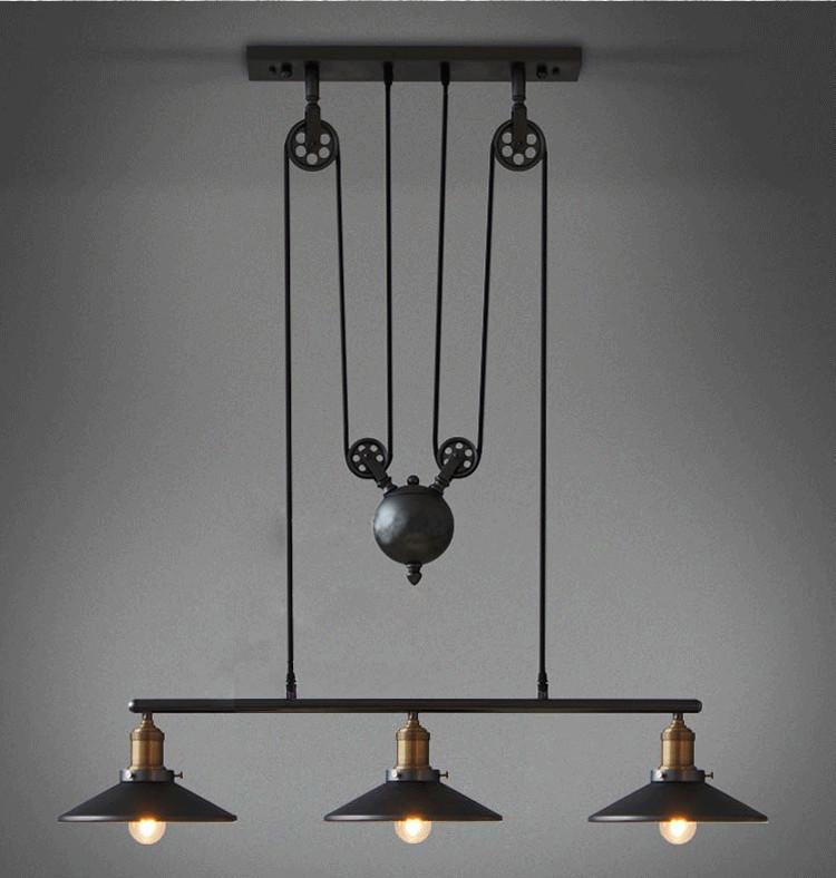 Très bien Extreme Acheter Vintage Luminaires Suspendus Loft Style Hanglamp Poulie  LH51