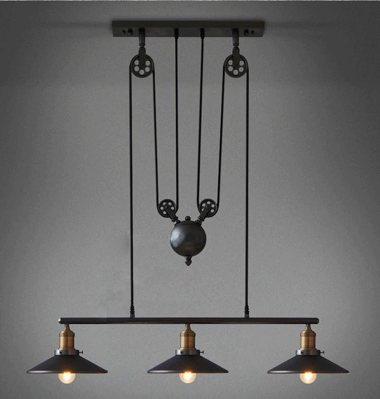 Best vintage pendant lights fixtures loft style hanglamp pulley retro lamp black metal industrial lighting bedroom dining room bar under 303 84 dhgate