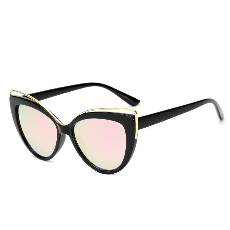 Hong der Sonnenbrille Cat Eye Mirror Mode Sonnenbrille, D.