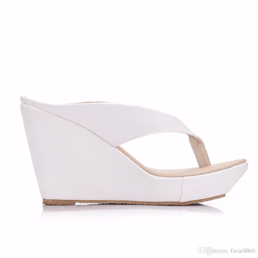 Women Summer High Heel Slippers Platform Sandals Ladies Wedges Sandals Brand Flip Flops Shoes Women Beach Slippers