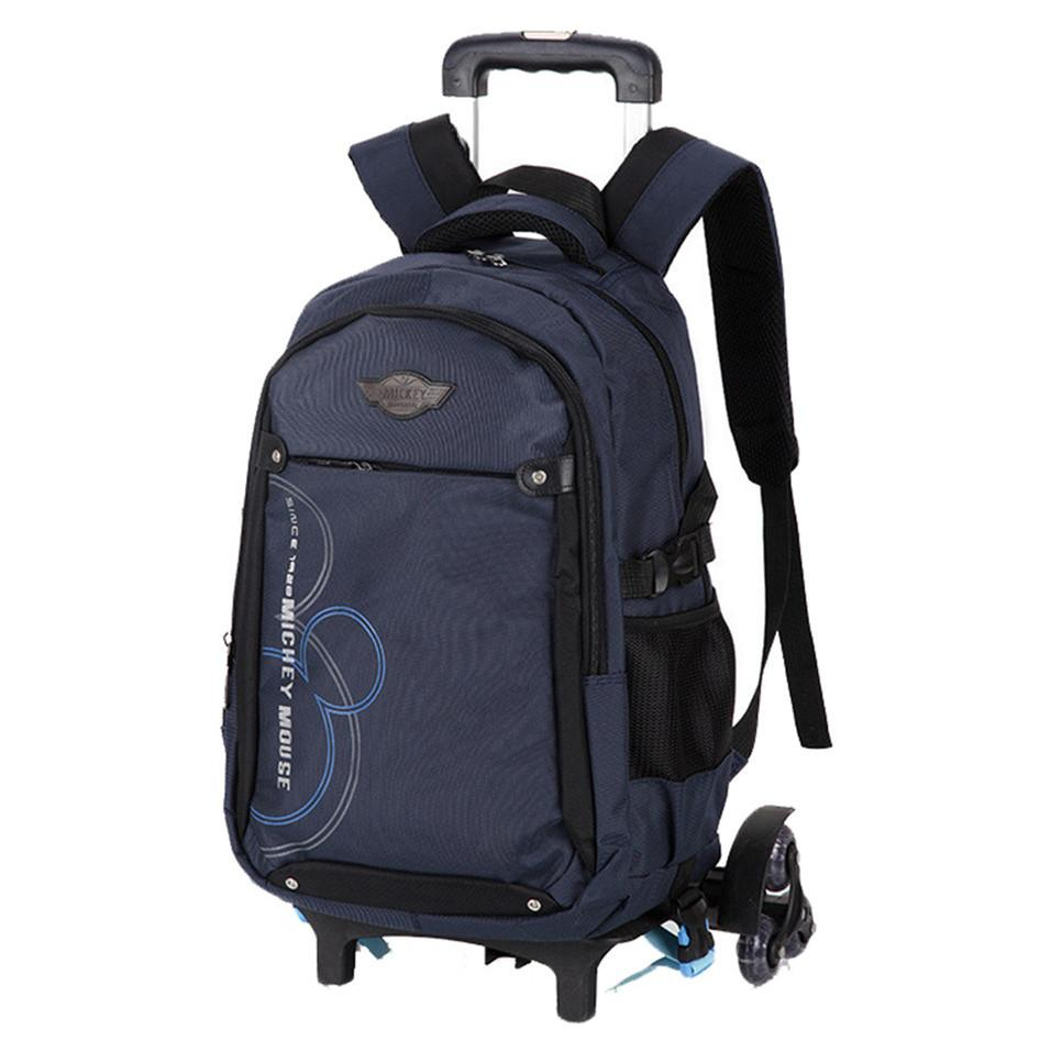 4eb2017bcd Children School Bags With 3 2 Wheels Removable Kids Child Trolley School  Bag Boys Girls Rolling Backpack Wheeled Bag Leather Backpacks On Sale Girl  ...