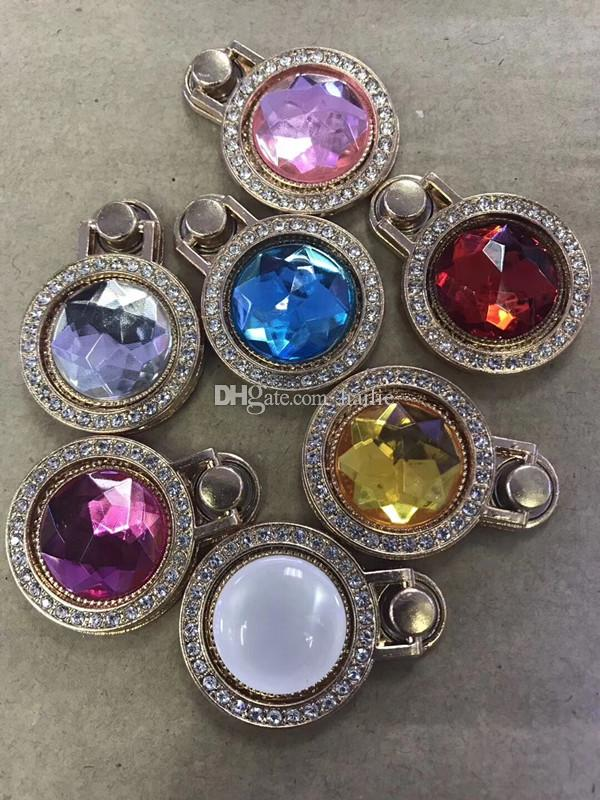 2018 new style Diamond-encrusted jewel-bracket mobile phone universal ring holder small pocket watch metal cell phone ring holder ring