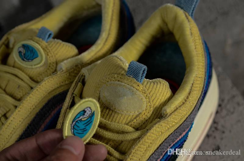 2018 New 97 Sean Wotherspoon Uomo Scarpe da corsa Top 97s Donna Vivid Sulphur Multi Yellow Blue Hybrid Sports Sneakers