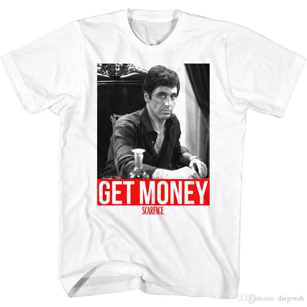 Scarface Al Pacino Get Money Men S T Shirt Tony Montana Mafia Gangster  Movie Top T Shirt Funny Funny T Shirt Designs From Tshirzone 00b3509500