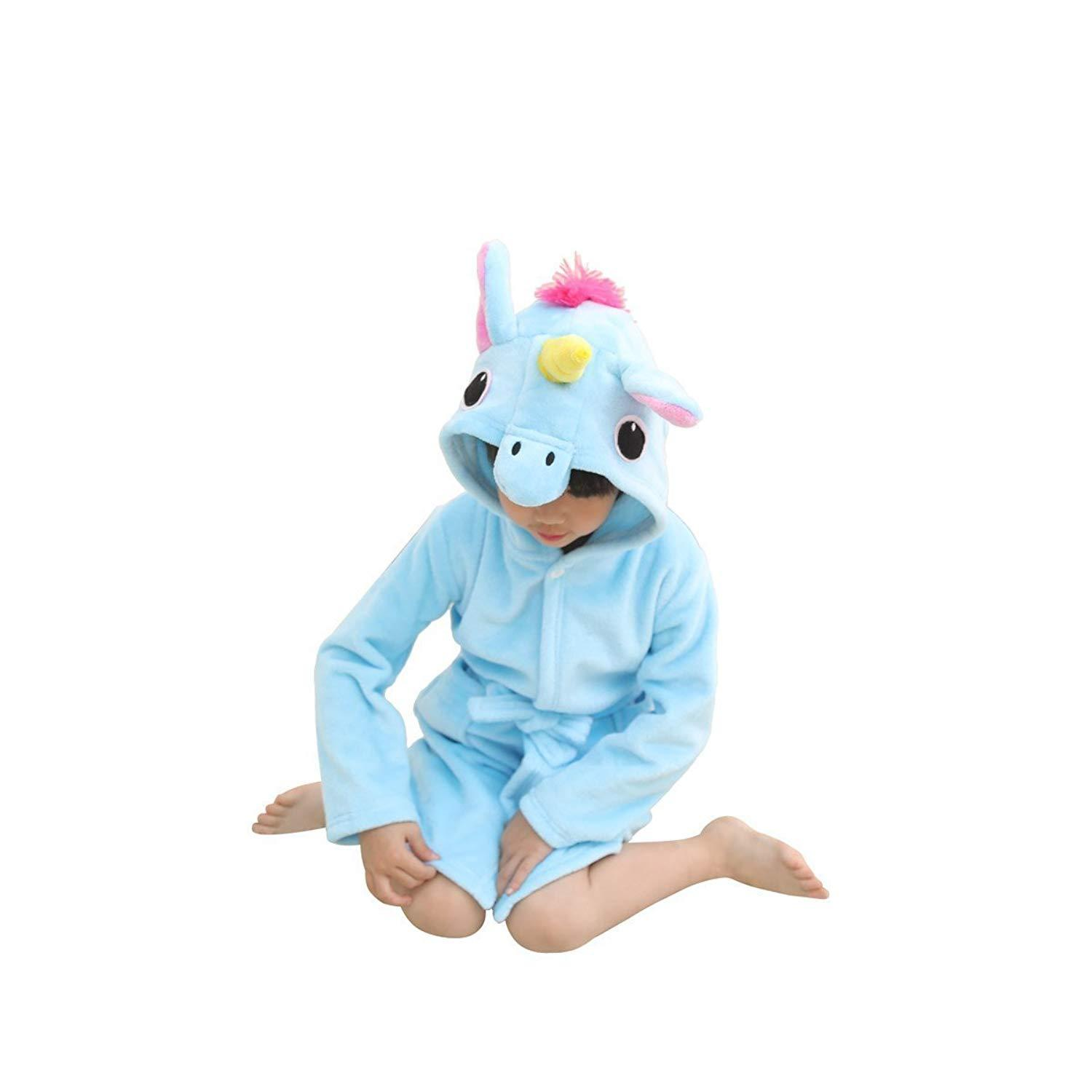 e6c4ad0cfb 2019 Cartoon Kids Soft Bathrobe Unicorn Fleece Sleepwear Comfortable  Loungewear For 0 11Years Children Boys Girls Nightwear Clothing From  Max4072