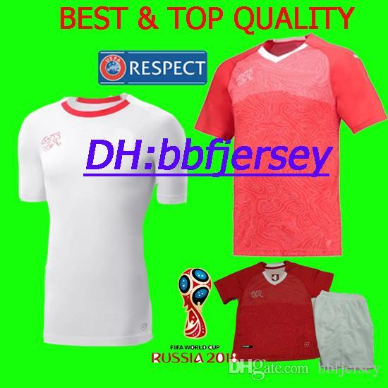 66ef2cd374 Compre Tailândia 2018 Camisas De Time Nacional Camisa De Futebol EMBOLO  XHAKA RODRIGUEZ ZAKARIA SHAQIRI 2018 Copa Do Mundo Suíça Camisas De Futebol  Camisas ...