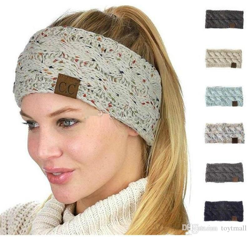 Cc Knitted Headbands Women Winter Ears Warmer Headbands Knitted