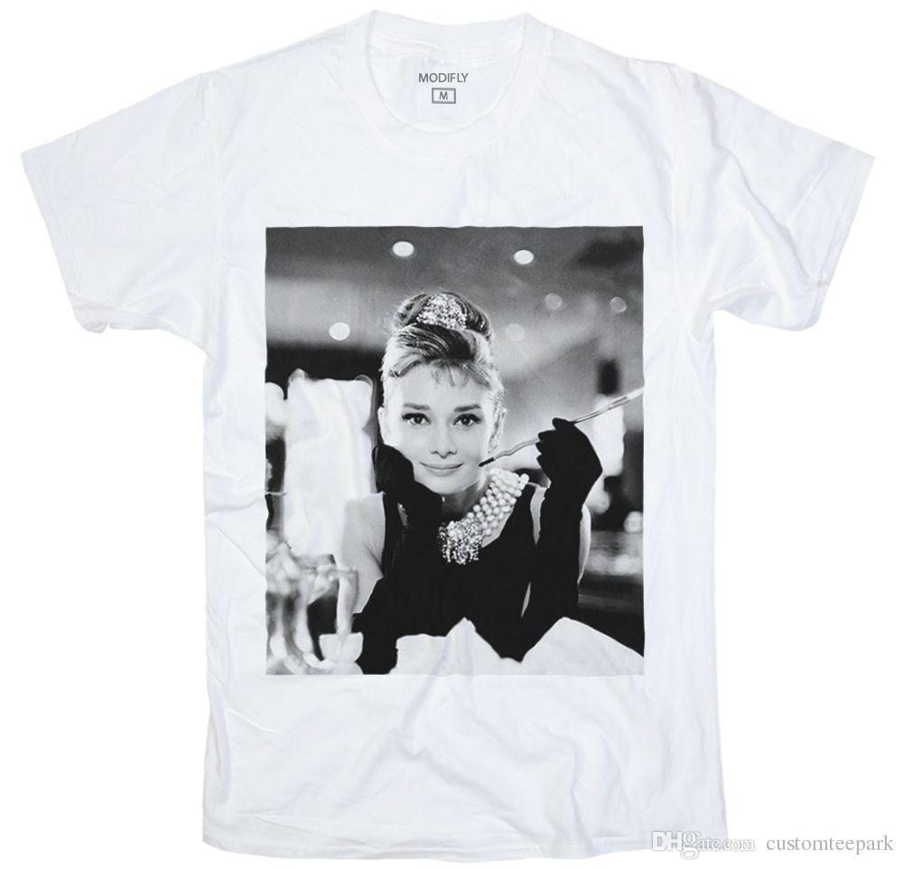 6da9ced5 Audrey Hepburn 60's Mod Vintage Retro Punk Men Woman White T-Shirt ...
