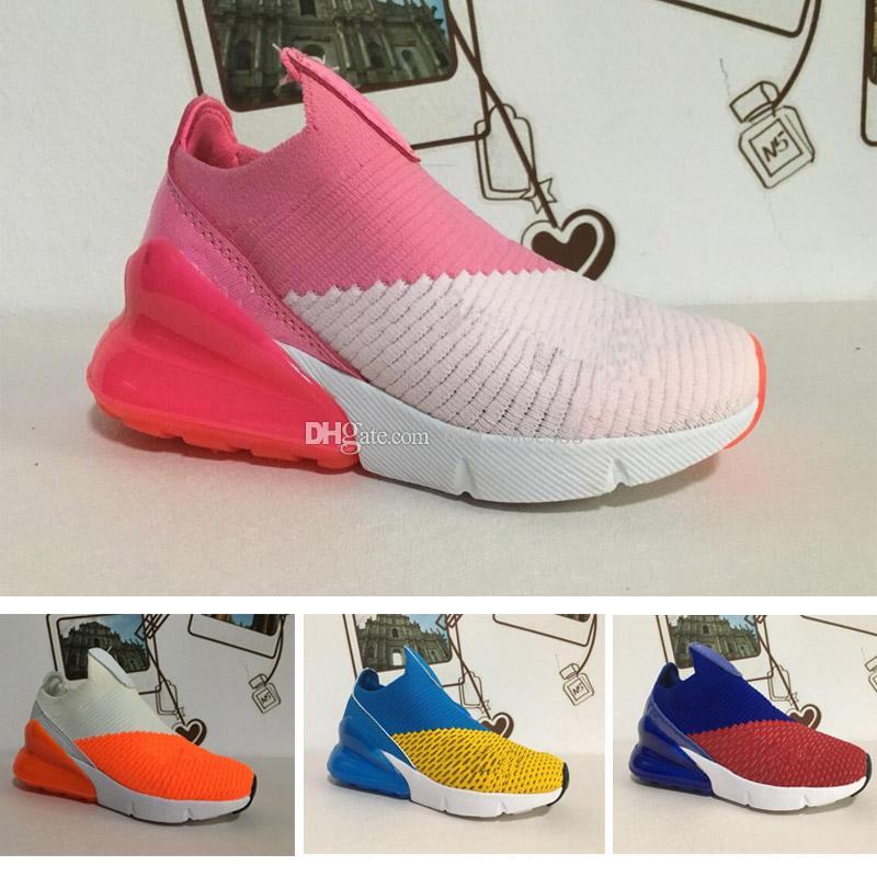 watch 17b49 12598 Compre Nike Air Max 270 27c Nuevos Niños 270 Zapatos Casuales Para Niños  Niños Bebés Niñas 27C Amortiguador Negro Blanco Naranja Verde Rosa Zapatos  Eur28 35 ...