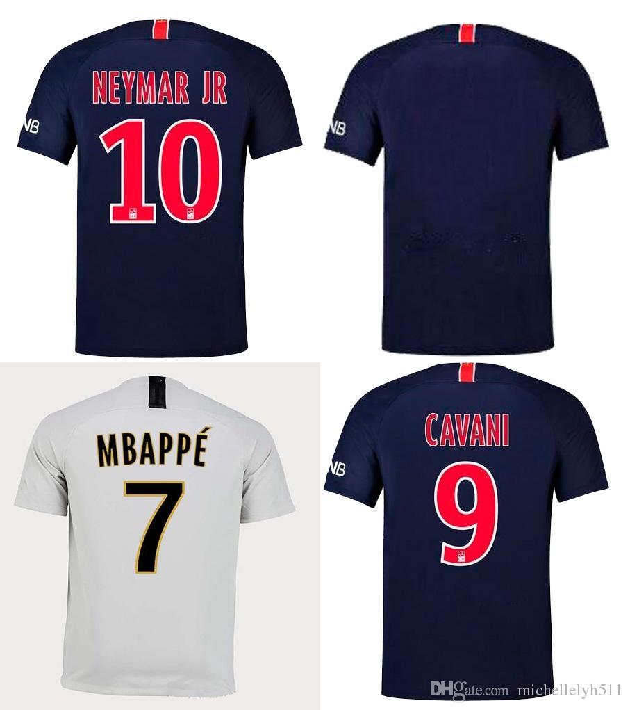 huge discount 44fee 3a85f 2018 2019 Neymar Jr Soccer Jersey 18 19 VERRATTI DI MARIA CAVANI MBAPPE  Football Jersey Men Top Thai Quality Football Shirt ALVES Sport Wear