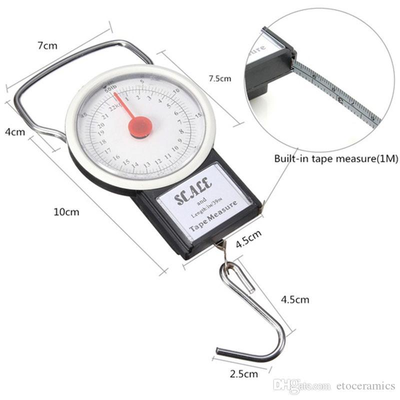 100 stks / partij Bagageschaal met gewichtsindicator Veerstaalweegschaal weegt 78lbs / 35kg lbs kg gewicht