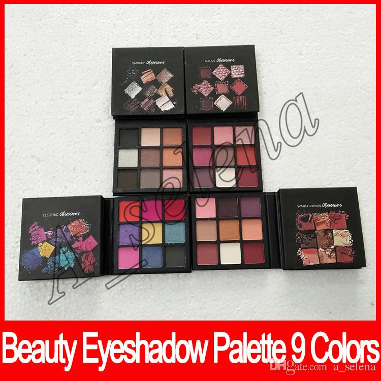 NEW obessions matte Eye Shadow Palette 9 color Beauty eyeshadow palette Makeup smokey mauve electric warm brown free shipping