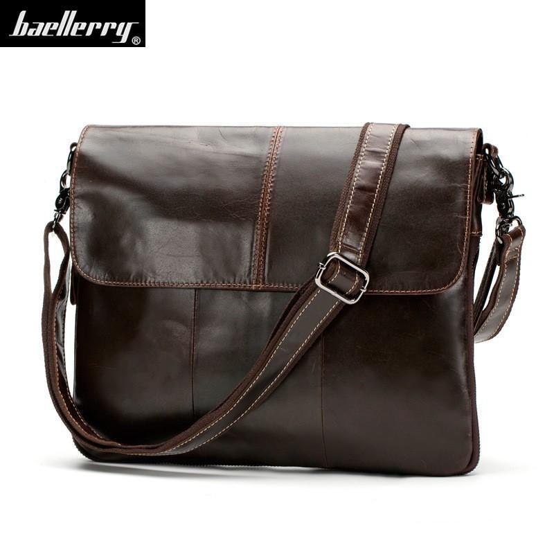 826d149ce Crazy Horse Business Men Briefcase Bag Laptop Bag Briefcase Male ...