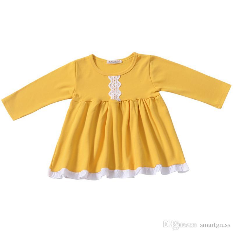 Vestidos amarillos de manga larga