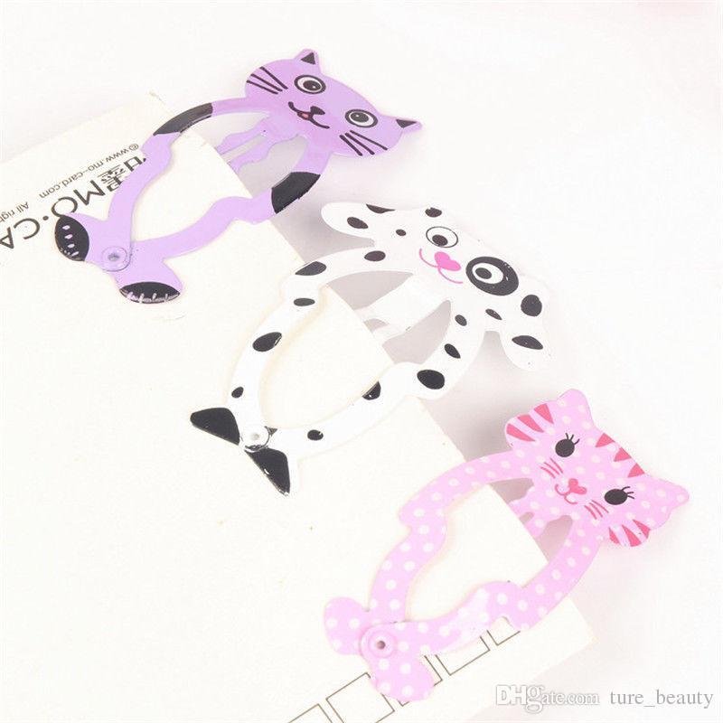 New Little Girl Cute Cartoon Animal Barrettes Kid Headwear Hair Clip Children Gift Hair Accessories Snap Clips Hairpins