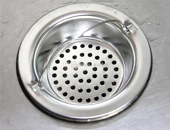 New Kitchen Sink Strainers Stopper Good Grip Stainless Steel Sink Strainer Kitchen Strainer Basket Waste Strainer WX9-601