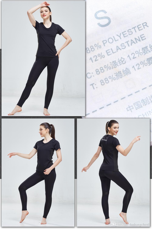 Women Sport Yoga Sets Shirts Pants Suits for Workout Running Fitness Training Clothing Girl Sports Shirts Women Sportswear 2018