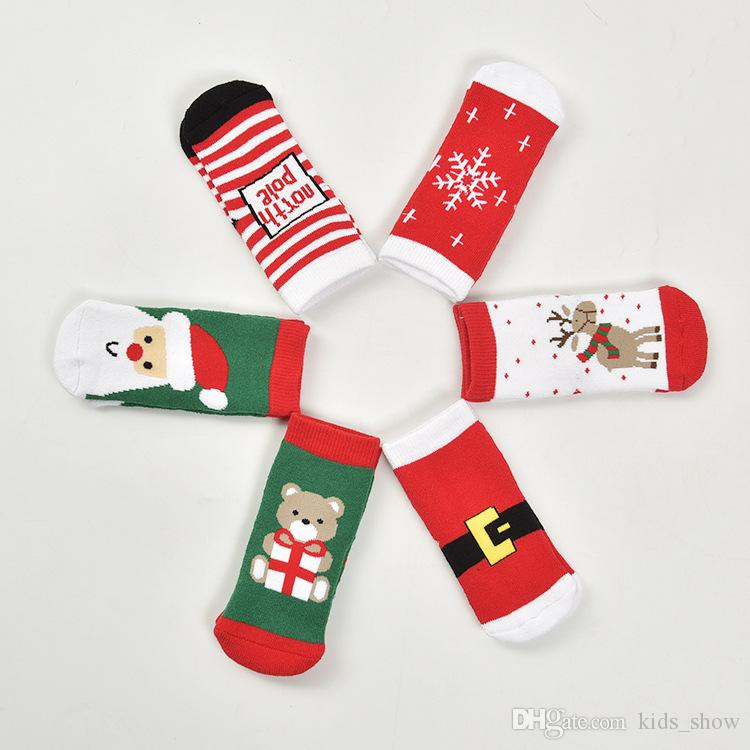 Newborn Baby Christmas Socks Boys Girls Cotton Soft Infant Toddler