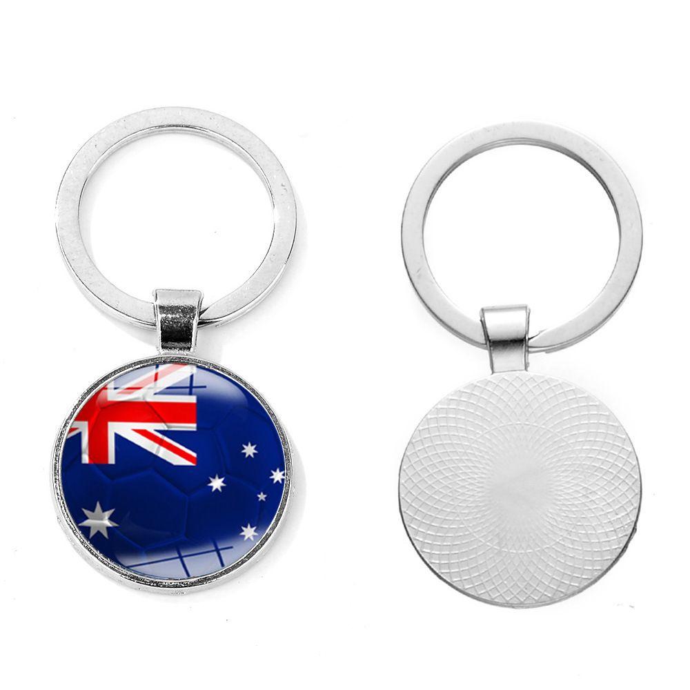 2018 Football Keychain Football Match Key Buckle Metal Country Flag Soccer Fans Souvenir Gift C4123