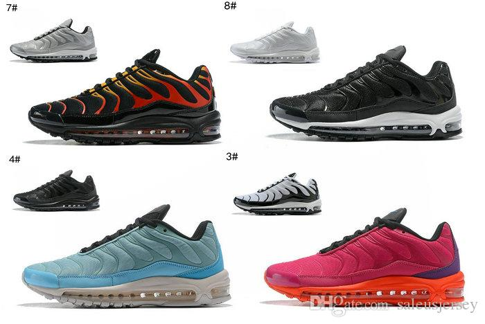 aa2b644f2b 2018 new Plus TN 97 men/women/kids running shoes highj quality airs tn  BLACK-ENGINE basketball shoes Tune Up Black White Hybrid sneakers