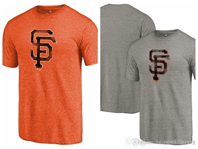 huge selection of 63ae1 3a129 Men's T-Shirt San Francisco Giants Team Tri-Blend short sleeves T-Shirt  color Heathered Gray Heathered
