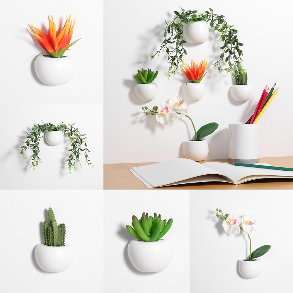 New Magnetic Artificial Plant Flower Pot 3d Fridge Sticker Fridge