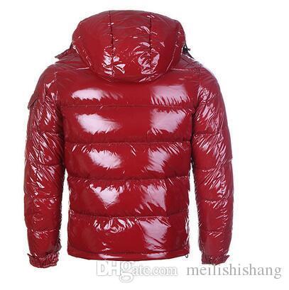 SıCAK Marka Erkekler Rahat parlak Aşağı Ceket Aşağı Palto Mens Açık Kürk Yaka Sıcak Adam Kış Kalın sıcak Ceket dış giyim ceketler parkas