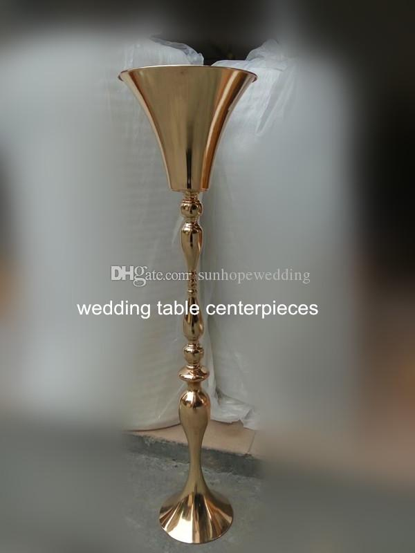 Factory Direct Wedding Table Centerpieces Iron Gold Metal Candle