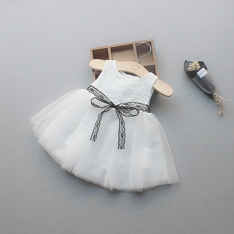 388a9f8e8 New 2018 Summer Girls Dress Baby Princess Clothes Lace Bow Toddler ...