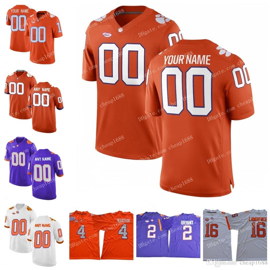 buy online 6a81f 50a7b NCAA Clemson Tigers #30 Dwight Clark 66 William Perry 7 Chase Brice 2 Sammy  Watkins Stitched 2018 New ACC College Football Jersey