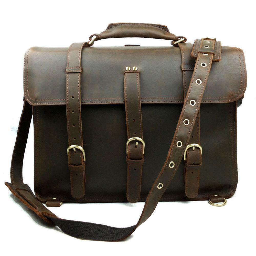 0738295fc616 JOYIR Crazy Horse Leather Men s Travel Bag Vintage Duffel Bag Multi  Function Genuine Leather One Shoulder Backpack Weekend Sports Bags Weekend  Bags From ...