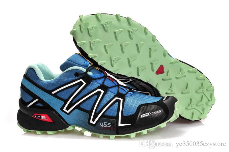 Salomon Vente chaude Solomons Speedcross 3 CS Trail 360 Hommes Léger Sneakers Marine Solomon III Zapatos Imperméable Chaussures de Sport Taille 40 47