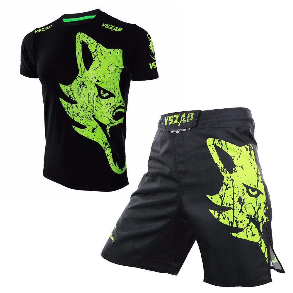 Muay Set Impresión Gel Fitness Boxeo Mma Kick Thai De Poliéster Shorts Hombres Bjj Deportiva Pantalones Cortos Tops Ropa Camisa y0wnvNmO8
