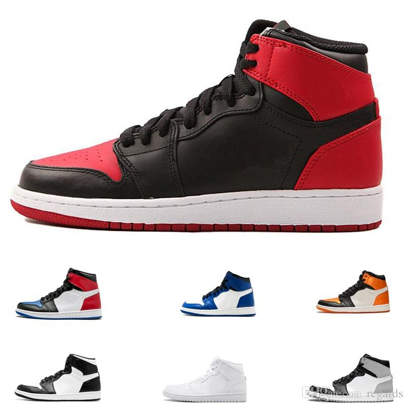 426f92727873 2019 2018 OG Top 1 Men Black Gold Basketball Shoes 1s Sneakers Homage To Home  Outdoor Trainers Mens Running Shoes Size 8 12 From Regards