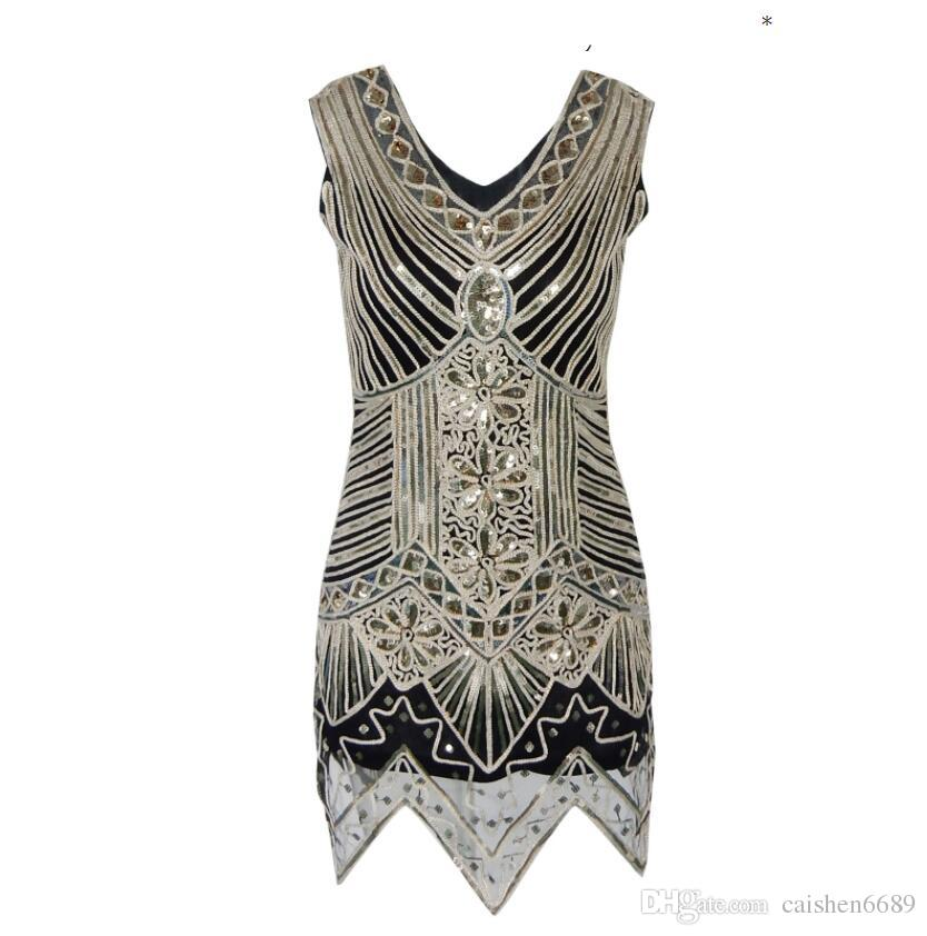Hot Sequins Handwork Evening Dress High Quality Elegant Temperament Dresses Women Retro Sequins Dress Club Party Evening Dress