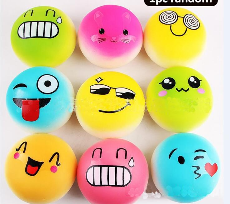 hot sale 2017 QQ Emoji 10cm Cute Anti Stress Face Autism Mood Squeeze Relief Healthy Toy Funny Gadget Vent Decompression toys