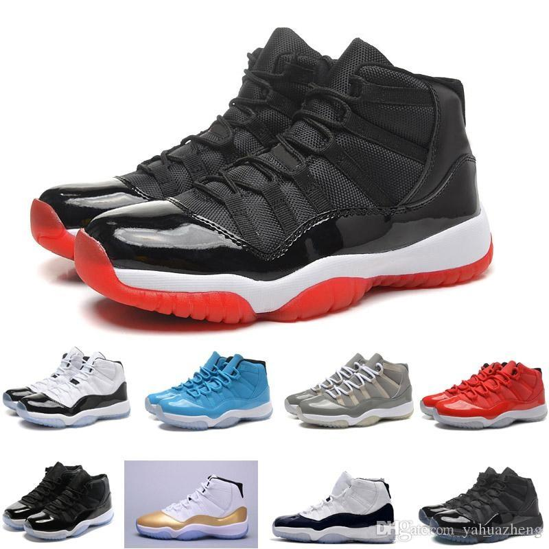 new photos 0c014 f8954 2018 chaussures de basket-ball ovo 11 blanc Flu jeu GS Barons loup gris Gym  11s rouge taxi séries éliminatoires gamma français bleu US 5.5-13 Nike Air  ...