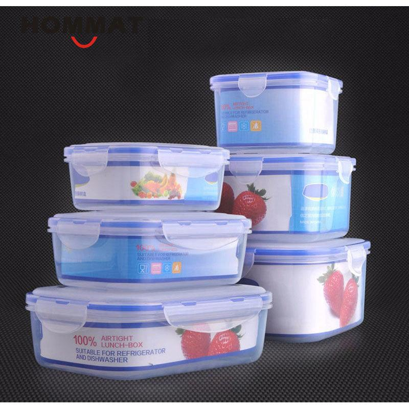 Of Plastic Kitchen Storage Boxes Lunch Boxs Airtight Seal Food