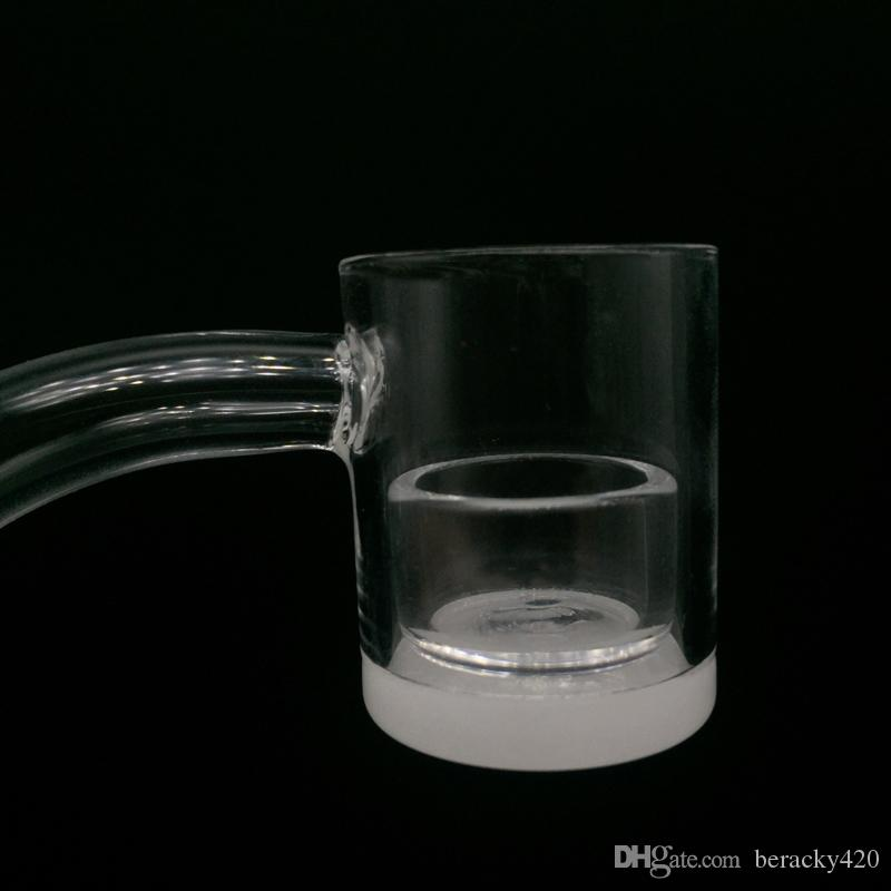 DHL бесплатно!! Новейший кварцевый молоток сосиска непрозрачное дно плоской вершиной клуб сосиска ногтей 10 мм 14 мм 18 мм со съемной кварцевой вставкой для стекла Бонг