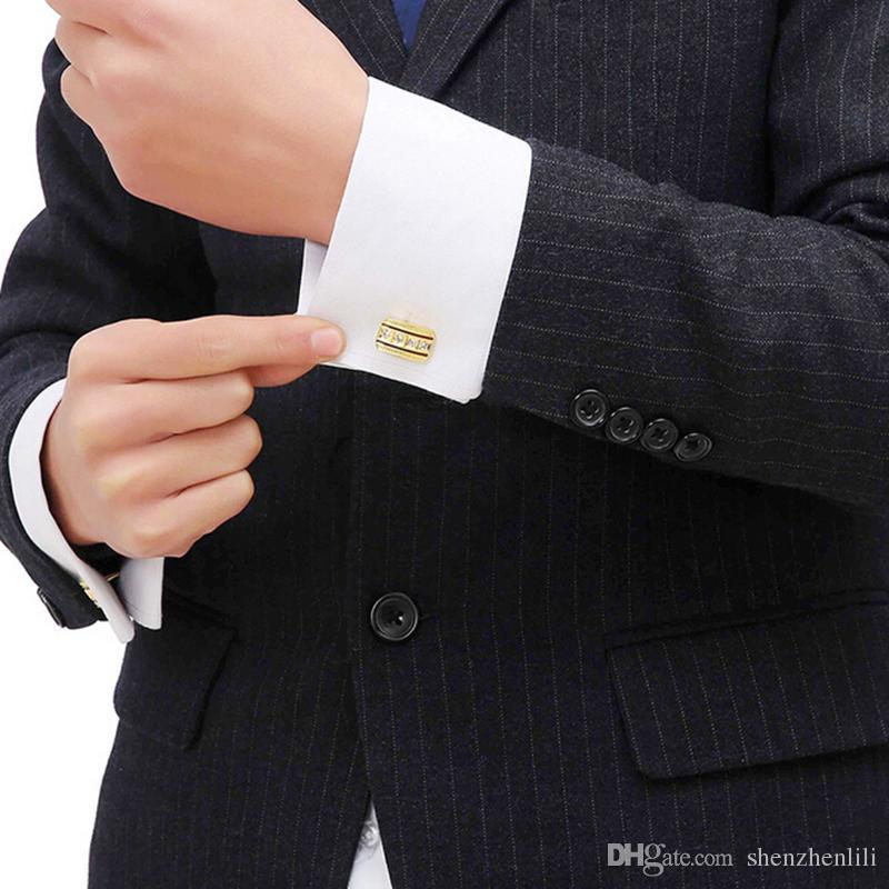 Мода Мужской Французская Рубашка Манжеты LinksCrystal Золотой Серебряный Роскошные Старинные Свадебные Мужские Запонки Для Рубашки