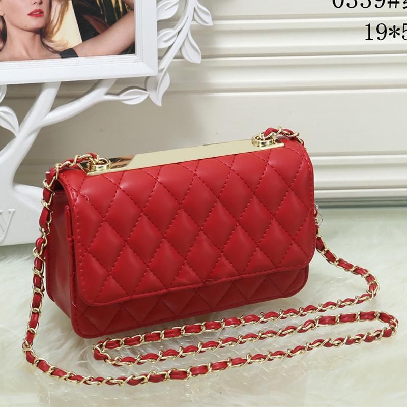 2d34785ba751 Women Quilted Double Chain Shoulder Bags Leather Designer Handbags ...