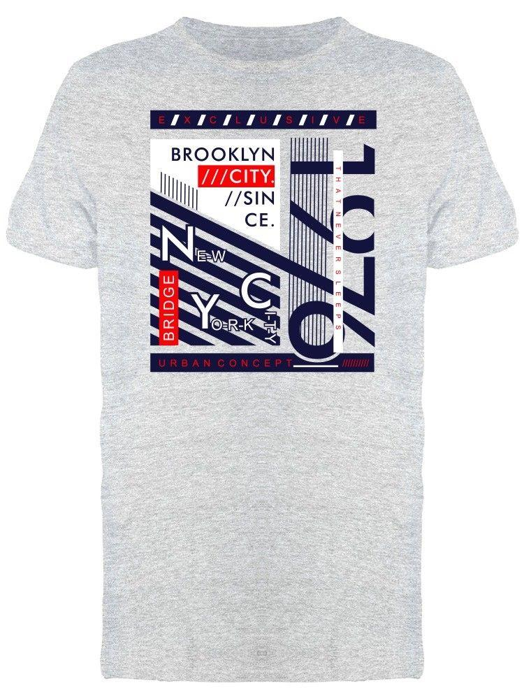 Brooklyn Nyc Typography Urban Men S Tee Image By Wholesale Discount Cool  Casual Pride T Shirt Men Unisex Fashion Tshirt Free Clever T Shirts Best Tee  Shirts ... 8f820023da1