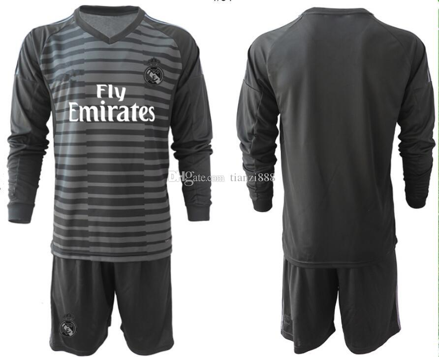 Compre 1819 Real Madrid Camiseta De Fútbol De Portero De Manga Larga 18 19 Real  Madrid Camiseta De Fútbol De Portero   11 BALE   22 Conjunto De Uniformes  De ... 2f6151485311e