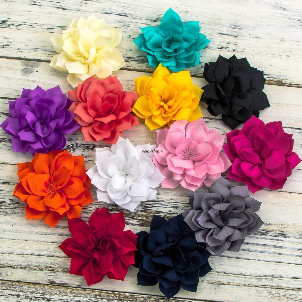 36 Hair Clips Double Layer Lotus Flowers For Kids Hair Accessories