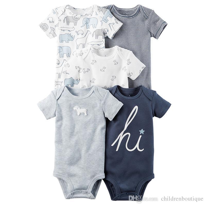 bdf2551b0 2018 Summer Cotton Baby Infants Rompers Toddler Jumpsuit Spring ...