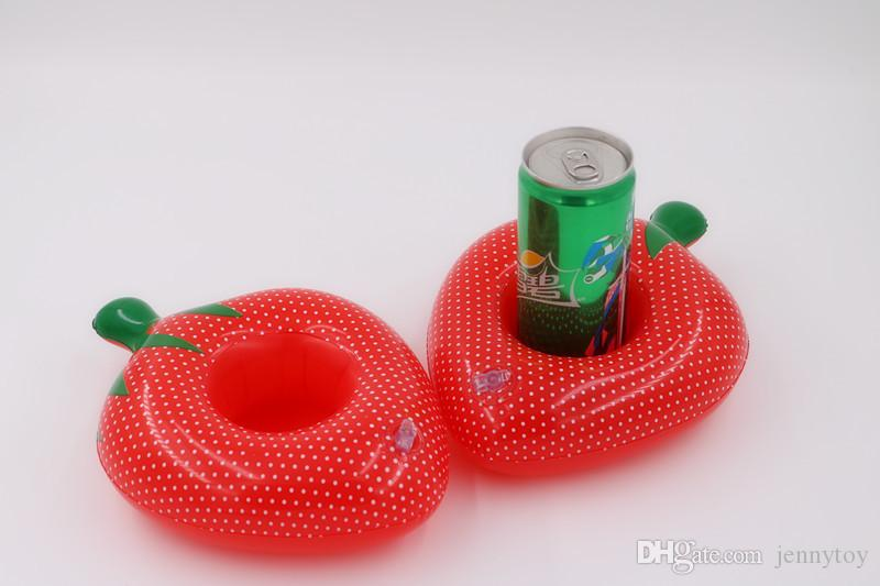 Swim Water Inflatable Floats Drink Cup Holder Fruit Strawberry Summer Pool Beach Party Supplies Floating Toys