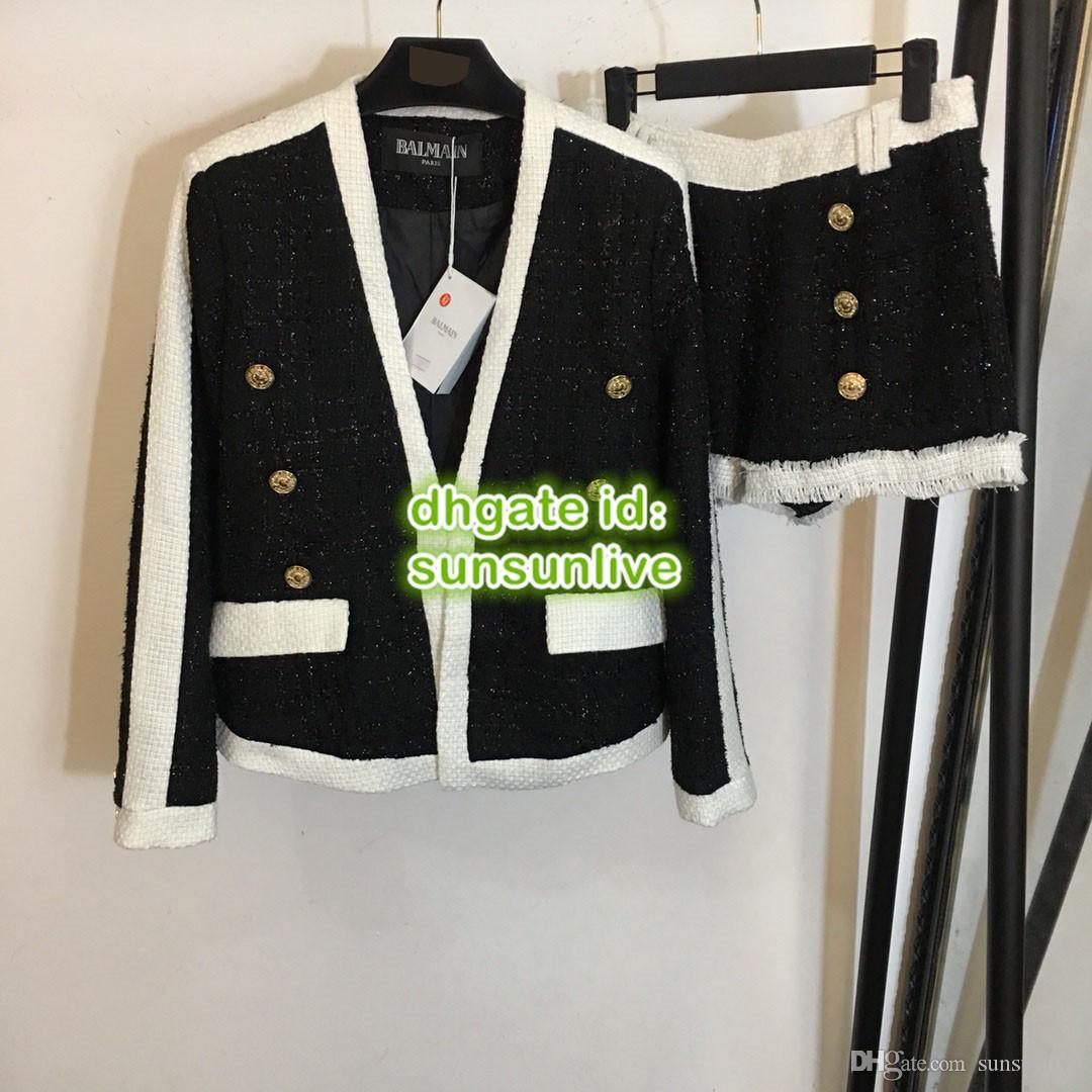 fcee9ad841 Compre 18ss High End Personalizado BB Mulheres Breasted Blazer Marca De  Moda De Paris Semana De Alta Qualidade Jaqueta Casaco + Shorts Terno  Conjunto 268790 ...